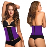 Purple 4 Steel Bone Latex Under Bust Corset