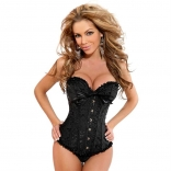 Steampunk Boned Corset with Chain Stud Detail