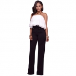 Black Leisure Wide-Legged Pants