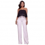 White Leisure Wide-Legged Pants