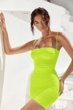 Light Green Halter Boat-Neck Off-Shoulder Bodycon Dress
