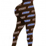 Brown Bodycons Sexy Printed Pants