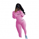 Pink Long Sleeve Bodycons Sexy Women Jumpsuit