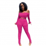 RoseRed Off-Shoulder 2PCS Women Mesh Sexy Jumpsuit