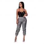 Grey Sequins Women Fashion Trouser