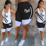 Black Sleeveless Halter Women Sexy Pant Sets